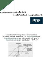 19.7 Aplicaciones de Los Materiles Magneticos
