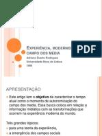 Experiência, modernidade e campo dos media_TAIS E PATI