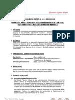 10-02 NORMAS Y PROCEDIMIENTO DE ABASTECIMIENTO Y CONTROL DE COMBUSTIBLE PARA GENERACIÓN TÉRMICA