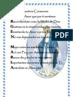 Acrostico Virgen Maria