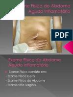 Exame Físico do Abdome Agudo Inflamatório