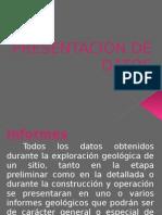 Presentacion de Datos Geologicos