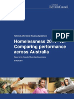COAG Reform Council homelessness report