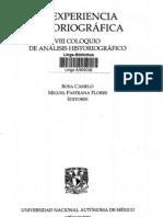 La experiencia historiográfica, Rosa Camelo y Miguel Pastrana.pdf