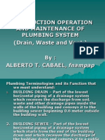 Construction Operation and Maintenance of Plumbing System