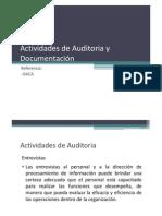 2.8 Actividades de Auditoria y Documentación