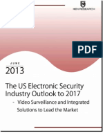 The US ELectronic Security Industry Outlook to 2017_Sample Report