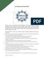 Perbandingan Struktur Kurikulum 2013 Dan KTSP