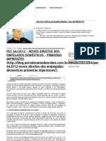 Blog Renato Saraiva - Comentários sobre a PEC 66-2012 - direitos dos trabalhadores domésticos