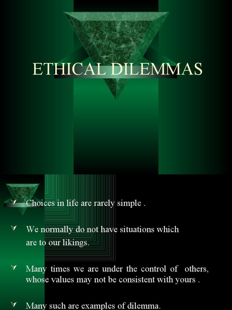 simple ethical dilemmas