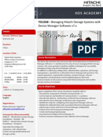 Managing Hitachi Storage Systems With Device Manager Software Tsi1360 At