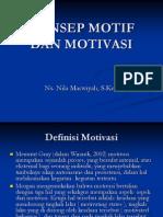 Konsep Motif Dan Motivasi
