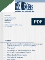 Reverse Mergers