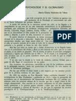 Medrano. Maria Gloria - La Gestalpsychologie y El Globalismo
