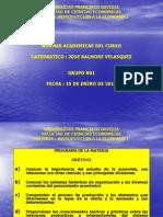 UFG - IEC 1 - Normas Academicas Del Curso - Grupo N01