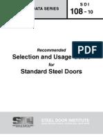 SDI_108 - Standard Steel Doors and Frames