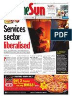 thesun 2009-04-23 page01 services sector liberalised