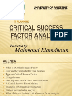 Critical Success Factor Analysis