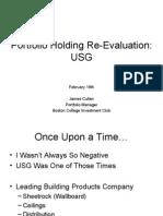 USG Stock Evaluation Pitch