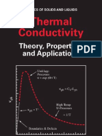 Thermal Conductivity Theory Properties Applications Physics of Solids n Liquid