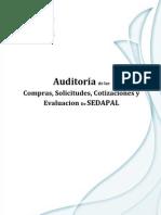 Auditoria de Evaluacion y Contrato de SB - Sedapal