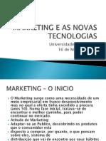 Marketing e as Novas Tecnologias