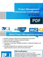 What is PMI PMP Certification