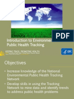Introduction to Environmental Health Public Health Tracking