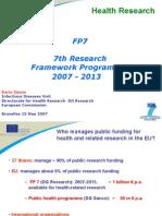Dall'attuale programma sanità pubblicaal nuovo programma 2007-2013:i nuovi obiettivi della strategia europea per la salute