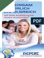 Ausbildungsbroschüre Hevert-Arzneimittel