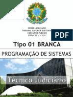 TÉCNICO JUDICIÁRIO - PROGRAMAÇÃO DE SISTEMAS - TIPO 1