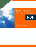 Sept 2013 Level i Study Guide
