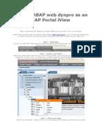 Display ABAP Web Dynpro as an SAP Portal iView