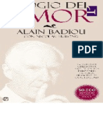 Alain Badiou - Elogio Del Amor