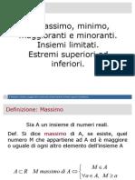 03. Massimo, Minimo, Maggioranti e Minoranti. Insiemi Limitati. Estremi Superiori Ed Inferiori.