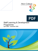 Learning and Development Programme April to December 2009