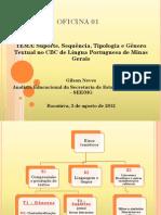 OFICINA 01 TIPOS E GÊNEROS TEXTUAIS
