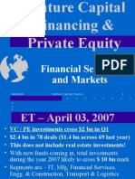 Venture Capital Funding and Private Equity in India