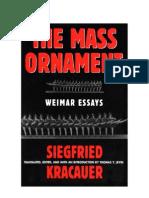 Kracauer, Siegfried - The Mass Ornament (Pg237 - 269)