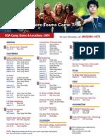 USA Camp Dates '09