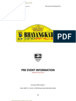 Pre Event Information Bhayangkara Sprint Rally 2013 Update 5 Juni
