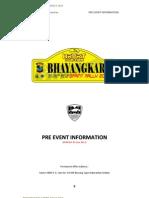 Pre Event Information Bhayangkara Sprint Rally 2013 Update 5 Juni