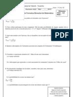 Prova  3º A  Matemática  2013