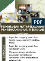 Pengurusan Matapelajaran Pendidikan Moral Di Sekolah