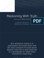 Ellerslie Sermon - Reckoning With Truth