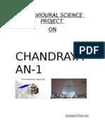 Behavioural Science Chandrayaan-1