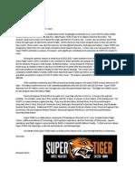 Super-TIGER Letter