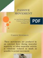 4- Passive Movement