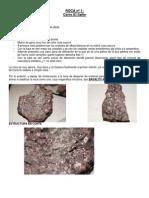ESTUDIO GEOLÓGICO DE LAS ROCAS (1,2 Y 3)
