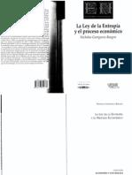 N. Georgescu-Roegen - La Ley de la Entropía y el processo económico (1971)